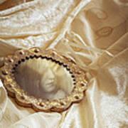 Wedding Dress And Mirror Art Print