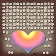 Wedding Guest Signature Book Heart Bubble Speech Shapes Art Print