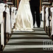 Wedding In Church Art Print