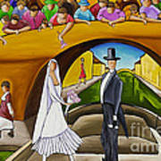 Wedding On Barge Art Print