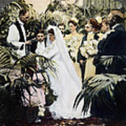 Wedding Party, 1900 Art Print
