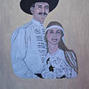 Wedding Portrait Art Print by Elizabeth Stedman