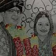 Wedding Sketch Art Print