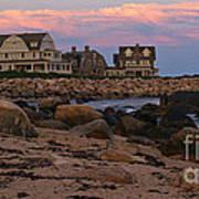 Weekapaug Ri Sunset Panorama Art Print