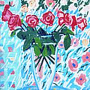 Weekend Roses Art Print
