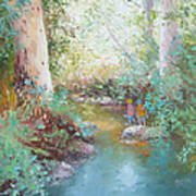 Weekends At The Creek Art Print