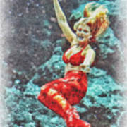Weeki Wachee Mermaid Art Print