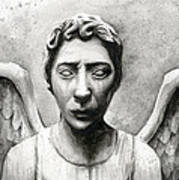 Weeping Angel Don't Blink Doctor Who Fan Art Art Print