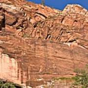 Weeping Rock In Zion National Park Art Print