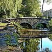 Weeping Willow Bridge Print by Robert Culver