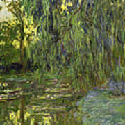 Weeping Willows The Waterlily Pond At Giverny Art Print by Claude Monet