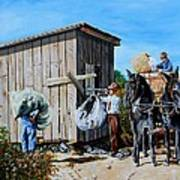 Weighing Cotton In The Field 1930s Art Print