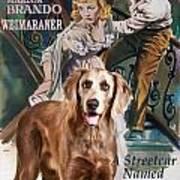 Weimaraner Art Canvas Print - A Streetcar Named Desire Movie Poster Art Print