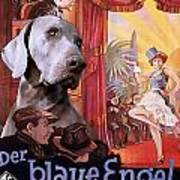 Weimaraner Art Canvas Print - Der Blaue Engel Movie Poster Art Print