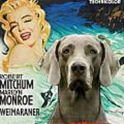 Weimaraner Art Canvas Print - River Of No Return Movie Poster Art Print