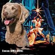 Weimaraner Art Canvas Print - Star Wars Movie Poster Art Print