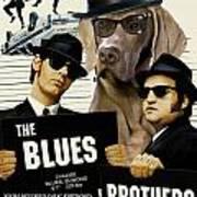 Weimaraner Art Canvas Print - The Blues Brothers Movie Poster Art Print