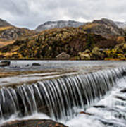 Weir At Ogwen Art Print