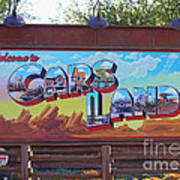 Welcome To Cars Land Art Print