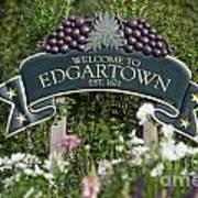 Welcome To Edgartown Art Print