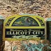 Welcome To Ellicott City Art Print