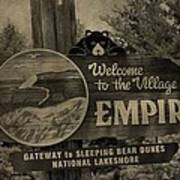 Welcome To Empire Michigan Art Print