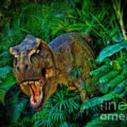 Welcome To My Park Tyrannosaurus Rex Art Print