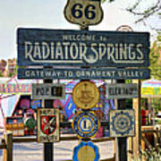 Welcome To Radiator Springs Art Print
