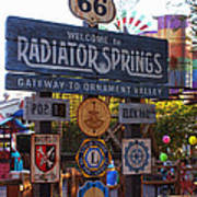 Welcome To Radiator Springs Art Print