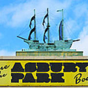 Welcome To The Asbury Park Boardwalk Art Print