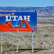 Welcome To Utah Art Print
