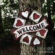 Welcome With Love Art Print