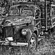 Well Drilling Truck Art Print