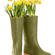 Wellington Boots Art Print