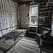Wells Hotel Room 2 - Garnet Ghost Town - Montana Art Print
