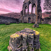 Welsh Abbey  Print by Adrian Evans