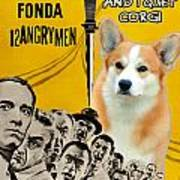 Welsh Corgi Pembroke Art Canvas Print - 12 Angry Men Movie Poster Art Print
