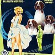 Welsh Springer Spaniel Art Canvas Print - The Seven Year Itch Movie Poster Art Print