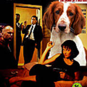 Welsh Springer Spaniel Art Canvas Print - Pulp Fiction Movie Poster Art Print