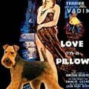 Welsh Terrier Art Canvas Print - Love On A Pillow Movie Poster Art Print