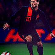 Wesley Sneijder  Art Print by Paul Meijering