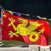 Wessex Wyvern Flag Art Print