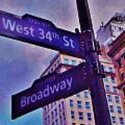 West 34th And Broadway Art Print