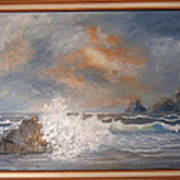 West Coast Seascape Art Print