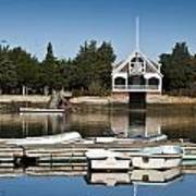 West Falmouth Boat House Art Print