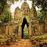 West Gate To Angkor Thom Art Print