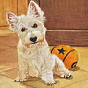 West Highland Terrier Puppy Art Print