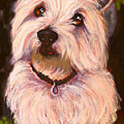 West Highland Terrier Reporting For Duty Art Print by Susan A Becker
