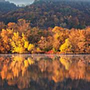 West Lake Winona Orange Stripe Art Print