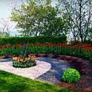 West Of The Lake Gardens Manitowoc Wi Art Print